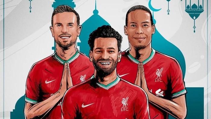 Klub Liga Inggris, Liverpool, mengucapkan selamat Hari Raya Idul Fitri dengan Bahasa Indonesia di akun Instagram resminya, Kamis 13 Mei 2021.
