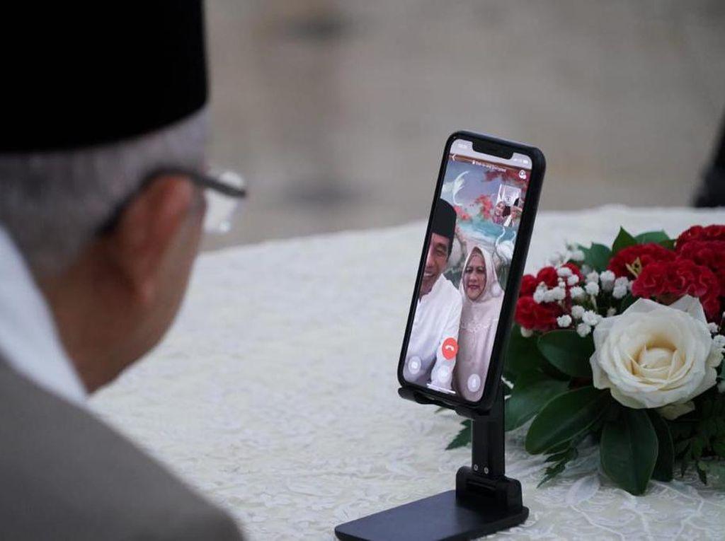 Momen Jokowi-Maruf Silaturahmi Lebaran Lewat Video Call
