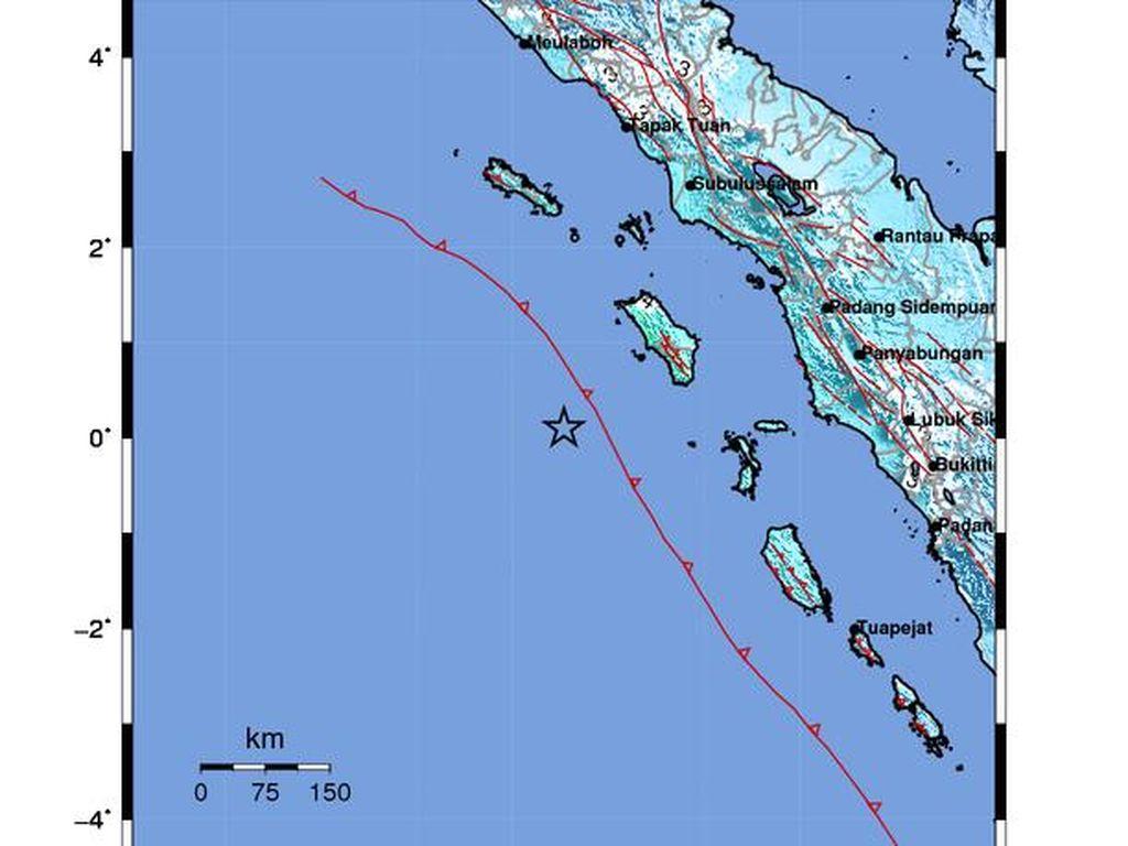 Gempa Nias Tak Berkaitan dengan Gempa Mentawai