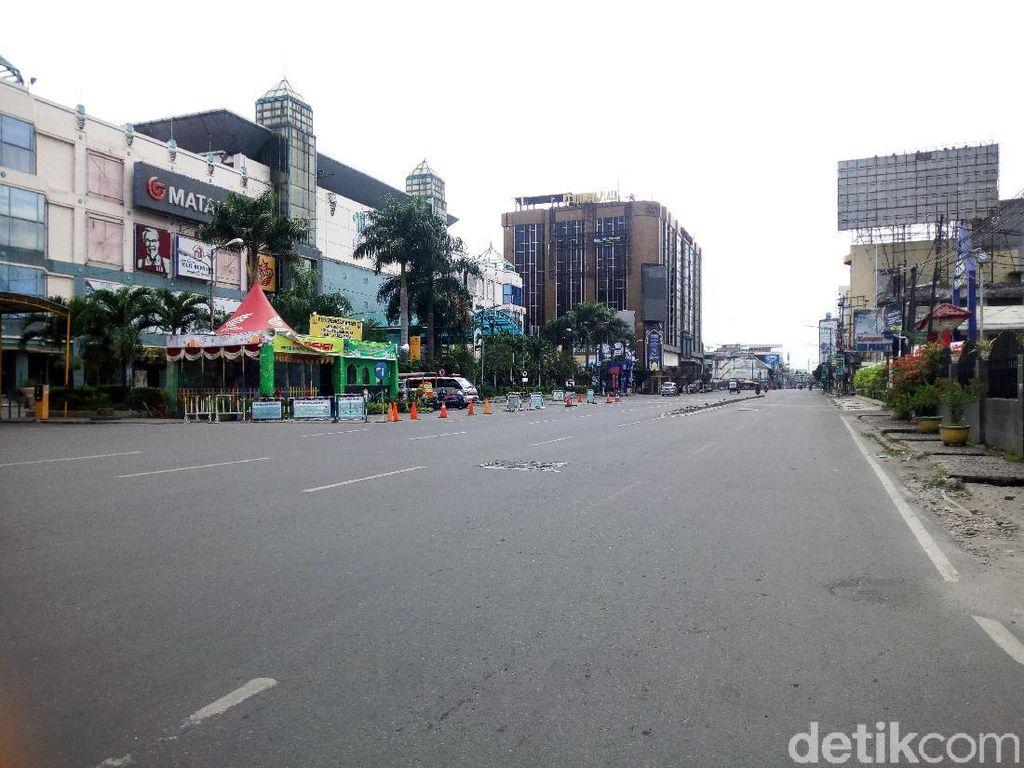 Lengangnya Jalanan Kota Medan di Hari Kedua Lebaran 2021