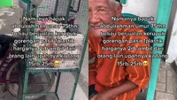Di Usia 75 Tahun Kakek di Sidoarjo Ini Masih Gigih Jual Kerupuk