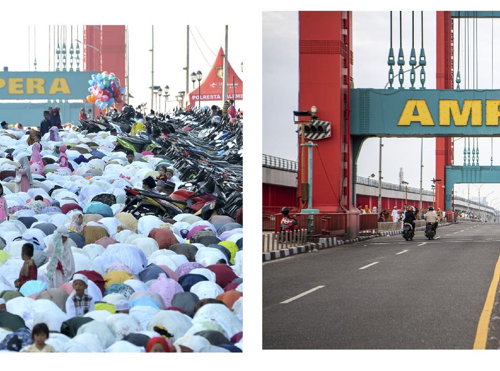Kala Pusat Kota Palembang Tanpa Salat Idul Fitri
