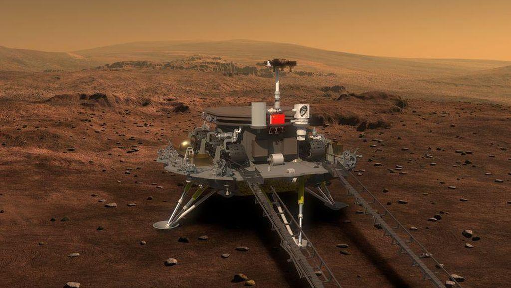 Melihat Perjalanan China Jadi Negara Ketiga yang Mendarat di Mars