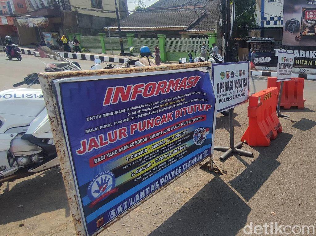Jalur Puncak ke Cianjur Ditutup, Kendaraan Dialihkan ke Jonggol