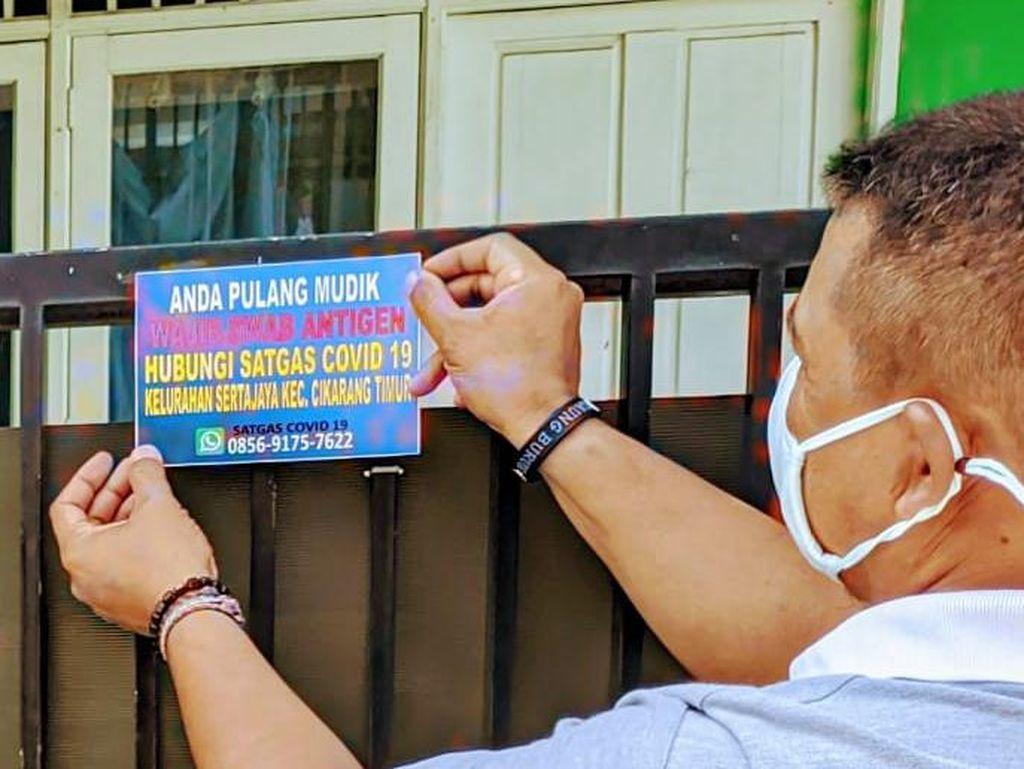 Rumah Ditempeli Stiker, Warga Pulang Mudik di Bekasi Diimbau Lapor RT