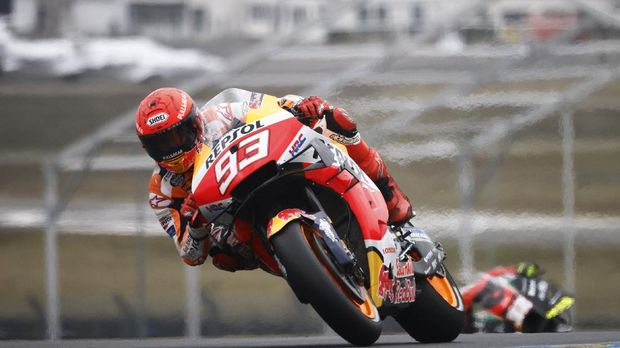 MotoGP - French Grand Prix - Circuit Bugatti, Le Mans, France - May 15, 2021 Repsol Honda's Marc Marquez in action during practice REUTERS/Stephane Mahe
