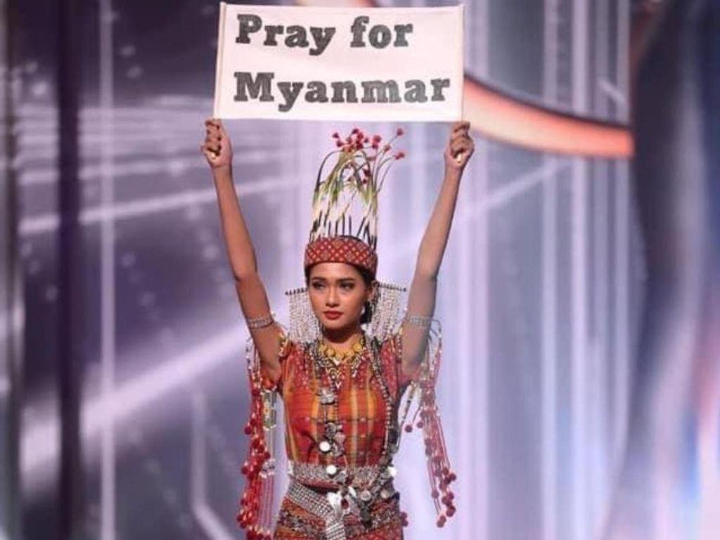 Wakil Myanmar di Miss Universe 2020 Menang Best National Costume