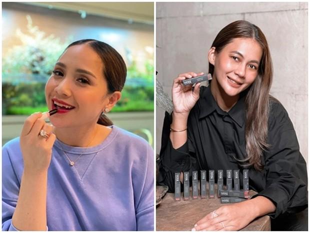 Nagita dan Paula yang mewakili brand kecantikan.