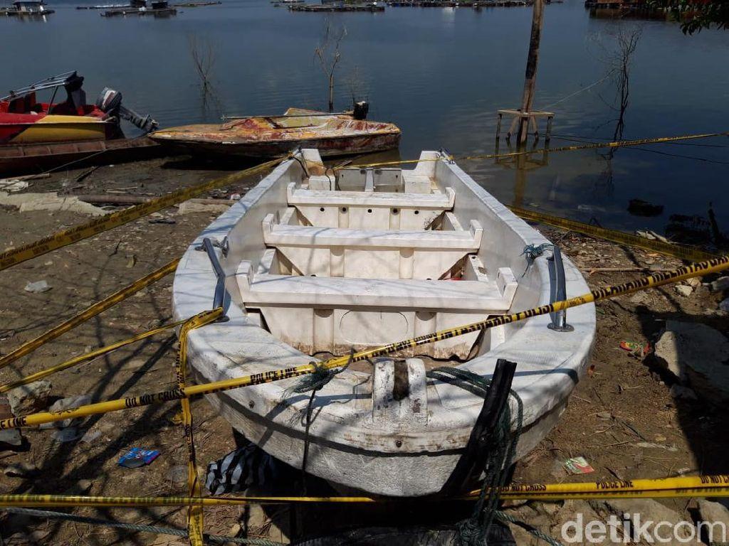 Perahu yang Terbalik di Waduk Kedungombo Dinakhodai Anak Bawah Umur