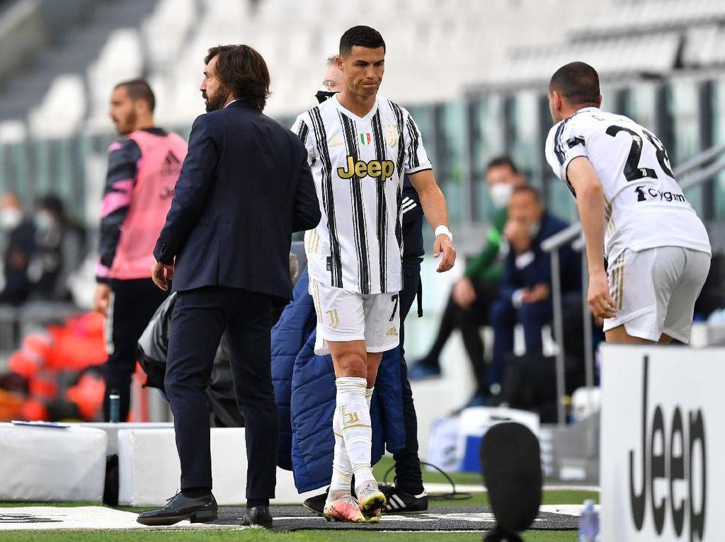 Juventus Benamkan Inter, Pirlo: Ronaldo Senang Diganti kok