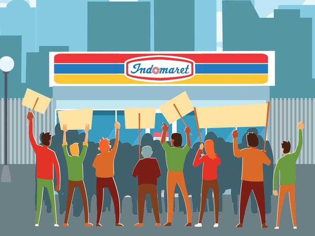 Akhir Kisah Perseteruan Buruh vs Indomaret