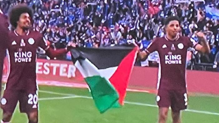 hamza choudhury wesley fofana leicester city palestina piala fa final piala fa