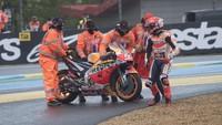 Marc Marquez Kesal! Crash di MotoGP Prancis Gara-gara...