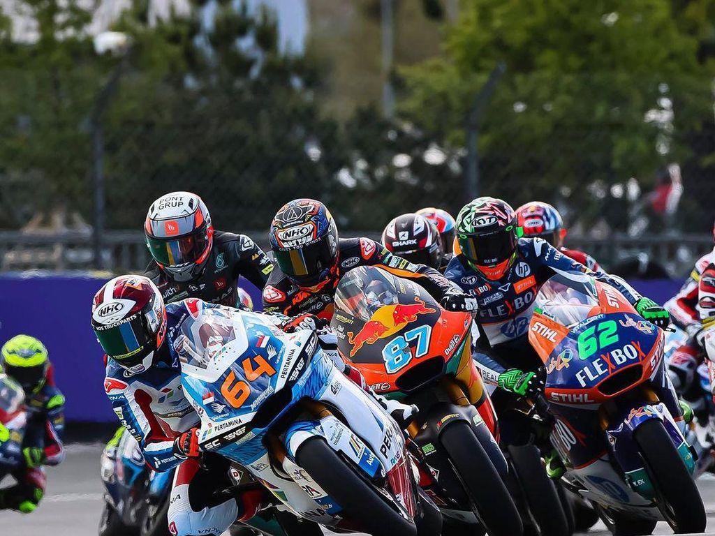 Hasil Tim Indonesia di Moto2 Catalunya: Pertamina Mandalika Tembus 10 Besar