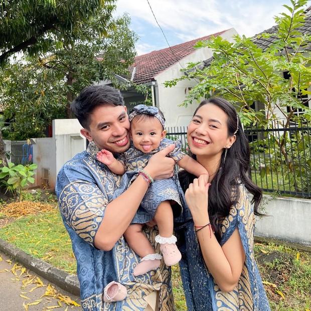 Abel Cantika rayakan lebaran bersama keluarga.