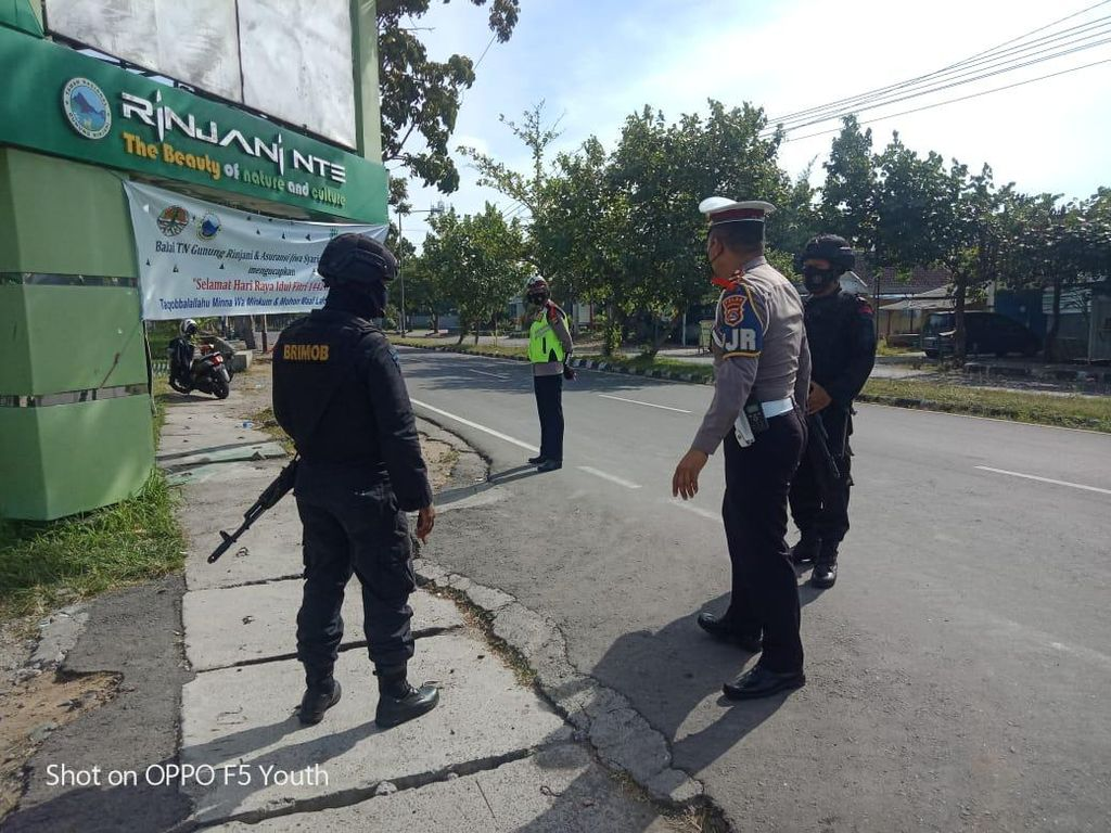 Polisi Sekat Akses ke Objek Wisata di Lombok Timur Selama Libur Lebaran