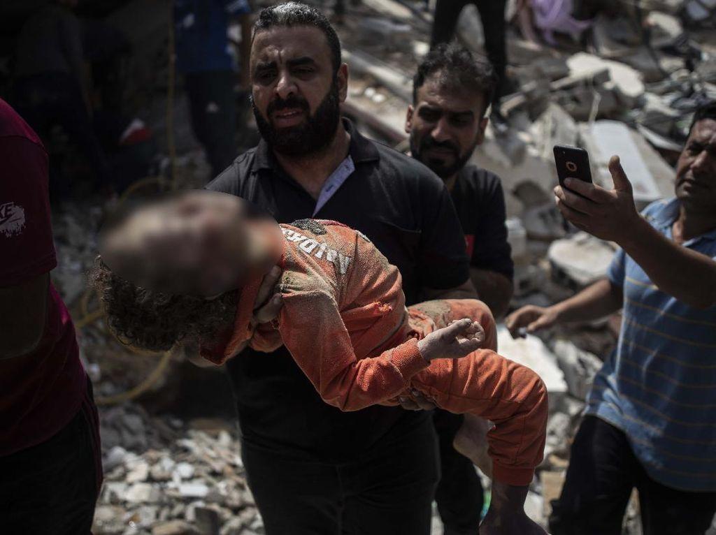 Potret Anak-anak Palestina Jadi Korban Serangan Israel