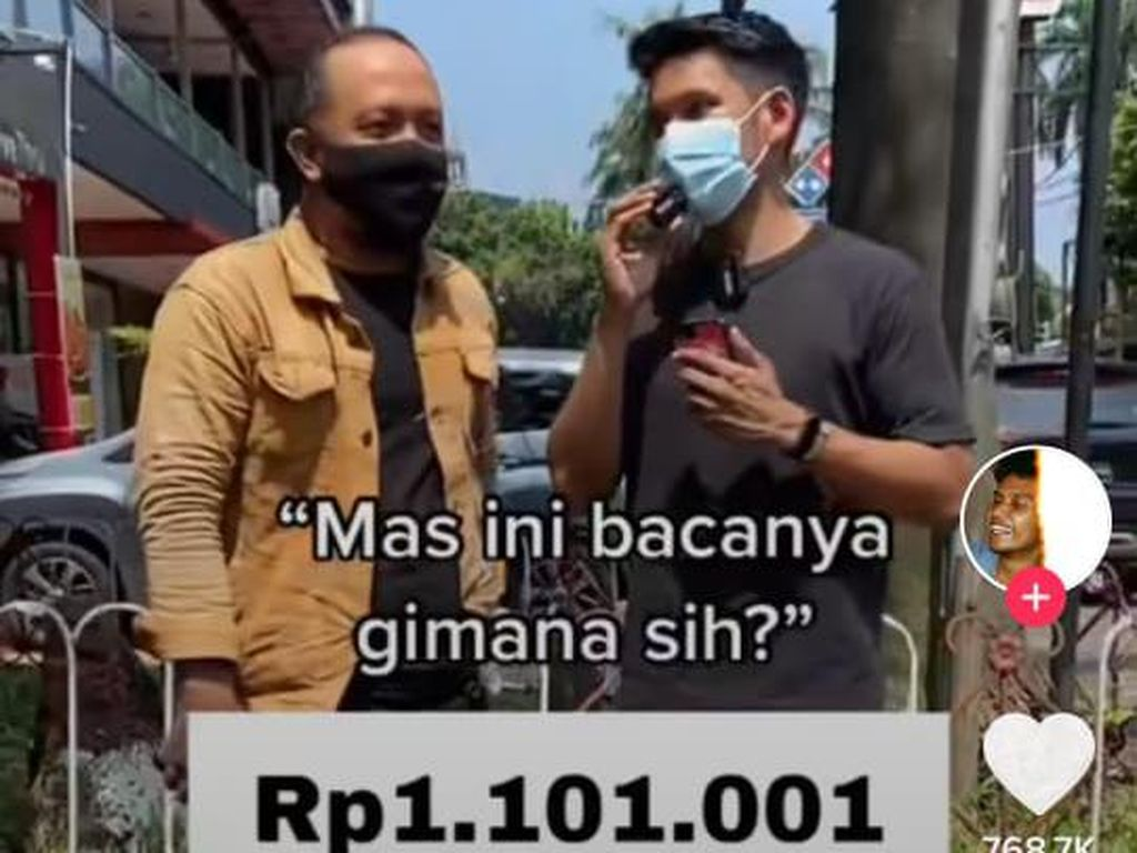 Viral di TikTok, Cara Baca Rp 1.101.001