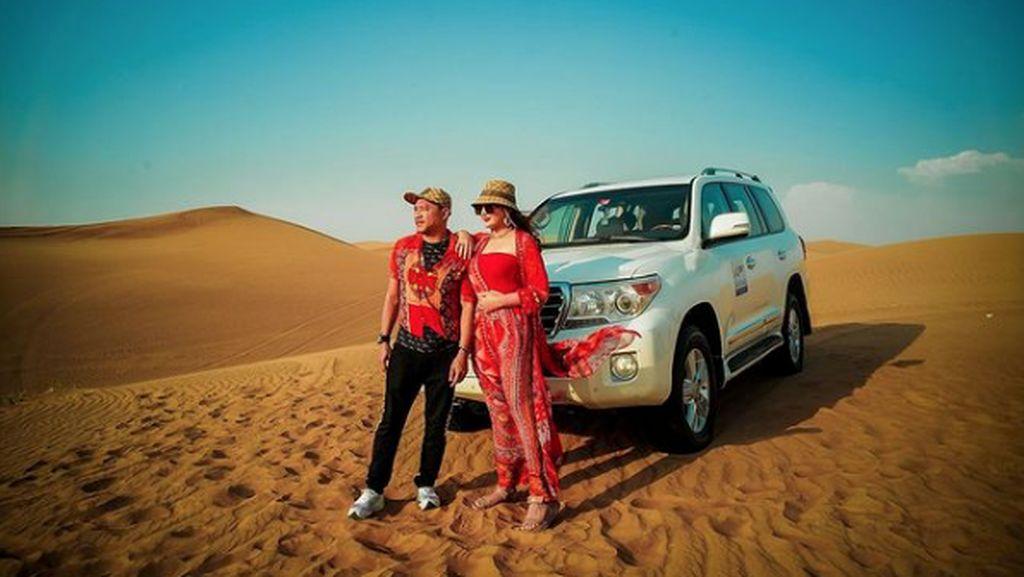 Ashanty Posting Foto di Dubai, Netizen: Enak ya Bund!