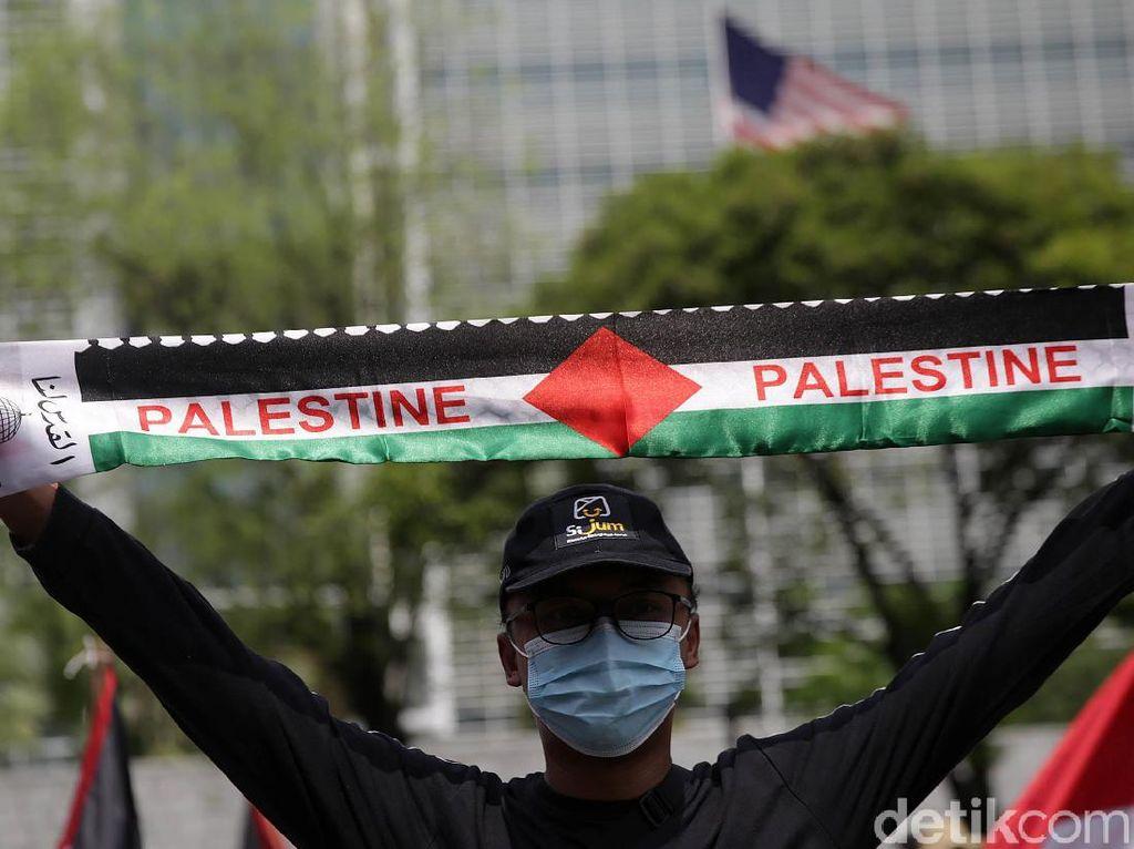 Giliran Mahasiswa Gelar Aksi Bela Palestina di Depan Kedubes AS
