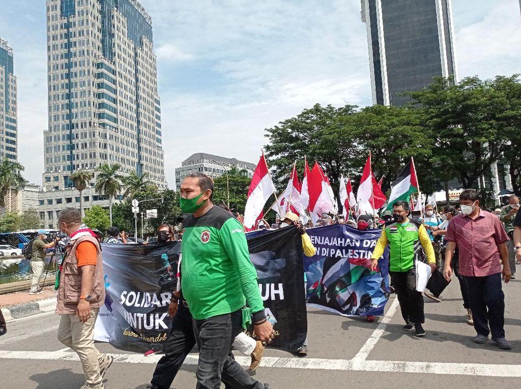 Aksi Solidaritas Palestina, Massa Buruh Longmarch ke Kedubes AS