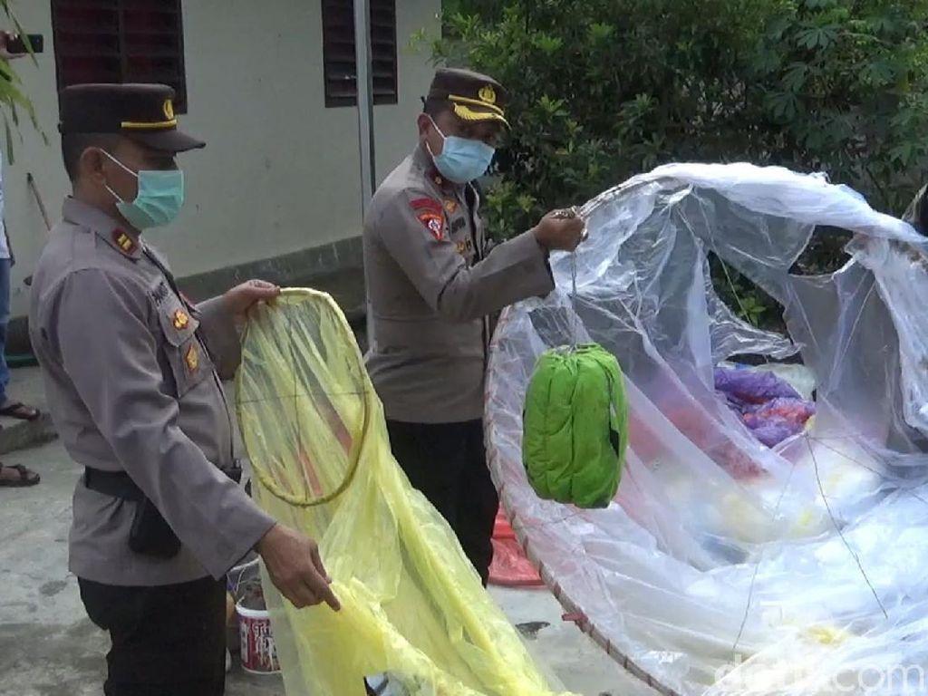Puluhan Balon Udara Diamankan di Trenggalek Saat Lebaran Ketupat