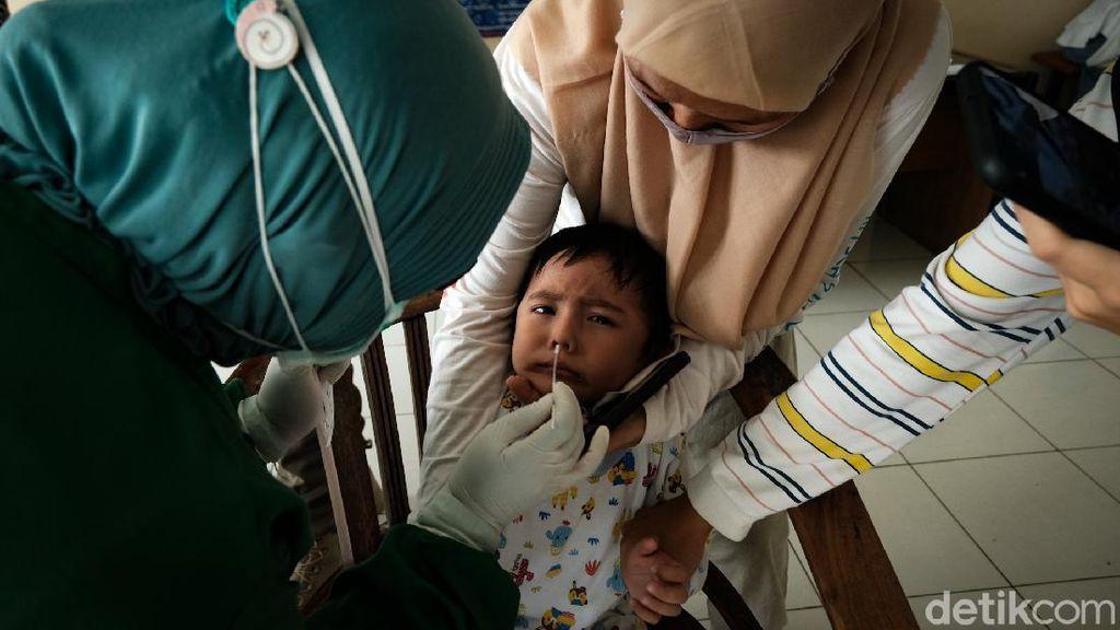 Saat Anak-anak Ikut Tes Antigen Usai Mudik Lebaran
