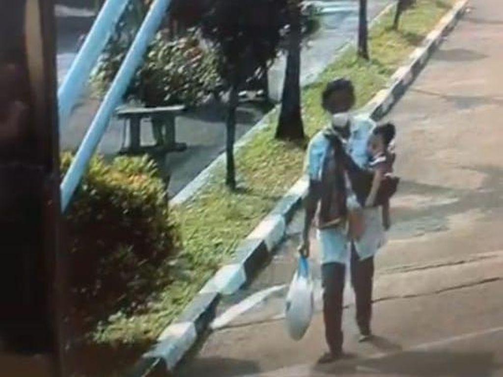 Terekam CCTV, Ini Penampakan ART Saat Culik Anak Prajurit TNI