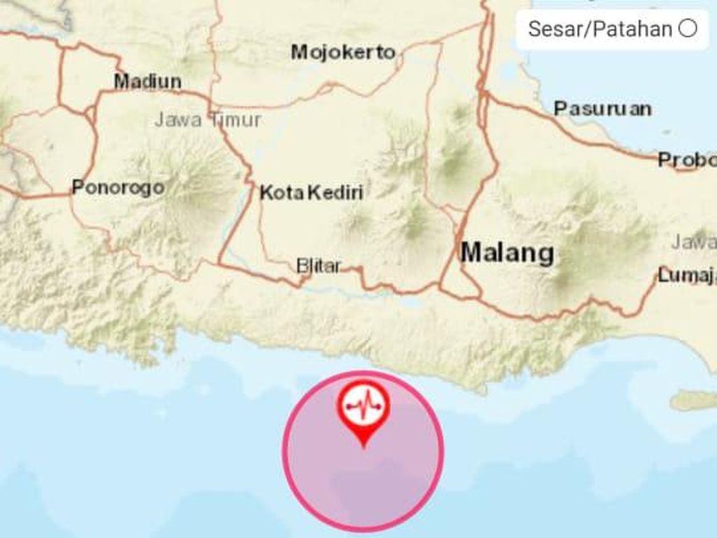 BMKG Mutakhirkan Gempa Blitar Menjadi M 5,9