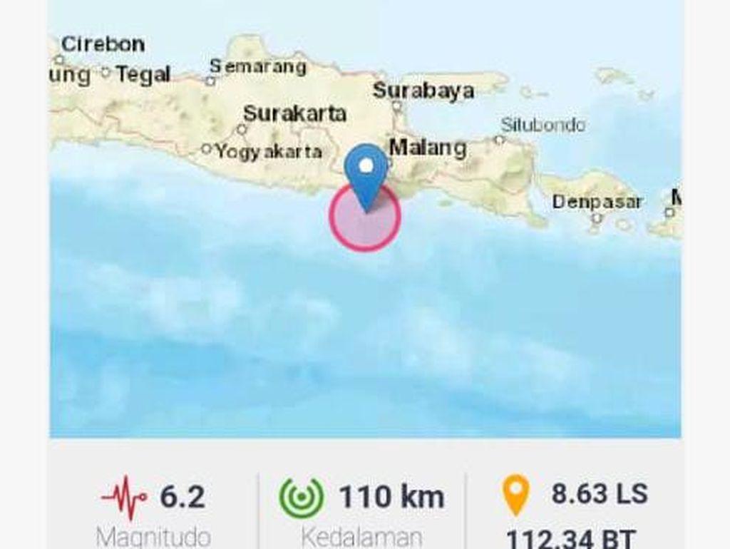Pascagempa Blitar M 5,9, Ada Tiga Gempa Susulan