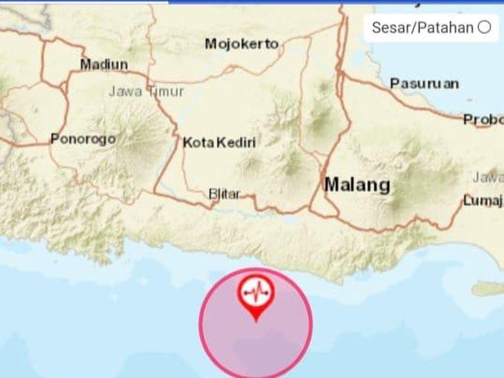 Blitar Diguncang Gempa Magnitudo 6,2