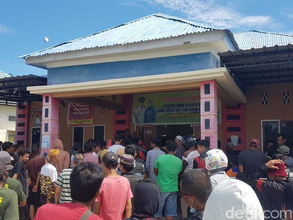 Ricuh Sengketa Tanah di Polman, Massa Geruduk Kantor Desa-Kepung Pengacara