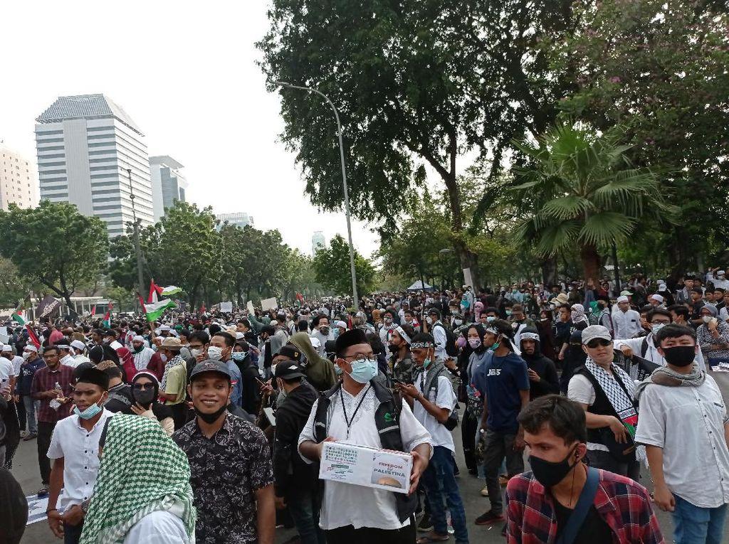 Kerumunan di Aksi Bela Palestina, Polisi Minta Massa Jaga Jarak!