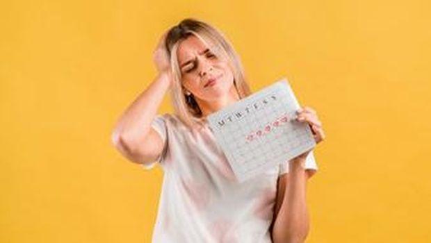 Ilustrasi siklus menstruasi tidak lancar/Freepik