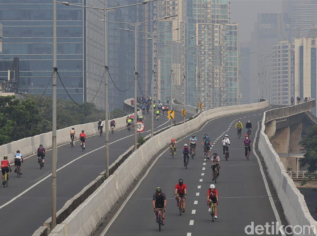 Polisi-Dishub DKI Rapat Bahas Operasionalisasi Jalur Khusus Road Bike