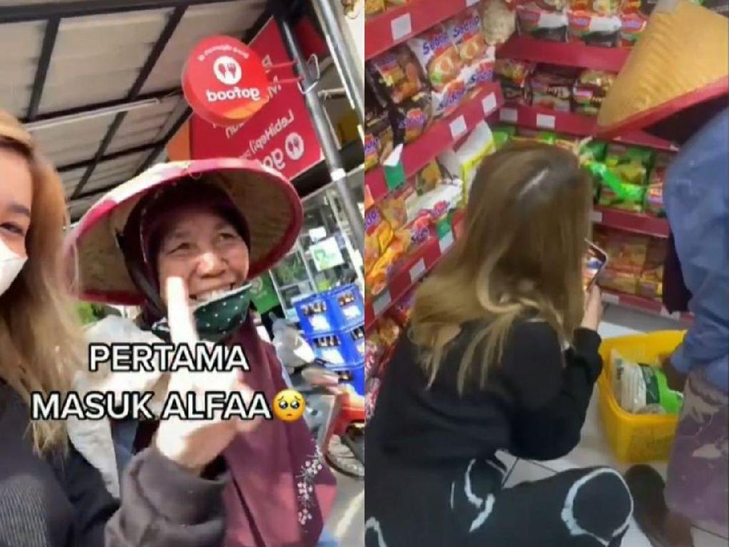 Pemulung yang Belum Pernah ke Minimarket Ini Ditraktir Belanja Netizen