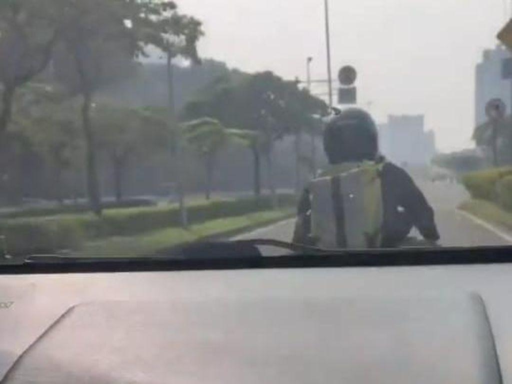 Viral Aksi ASN Kejar Begal Payudara Pesepeda di Kemayoran Jakpus