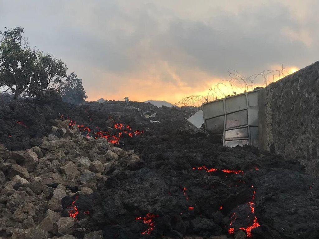 Erupsi Gunung Nyiragongo di Kongo Tewaskan 15 Orang, Puluhan Ribu Mengungsi