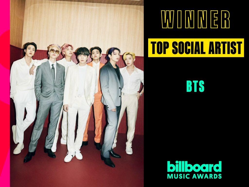 5 Tahun Berturut-turut BTS Raih Top Social Artist di BBMAs