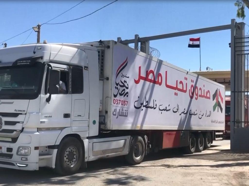 Bantuan Kemanusiaan dan Pasokan Kebutuhan Mulai Masuk Gaza