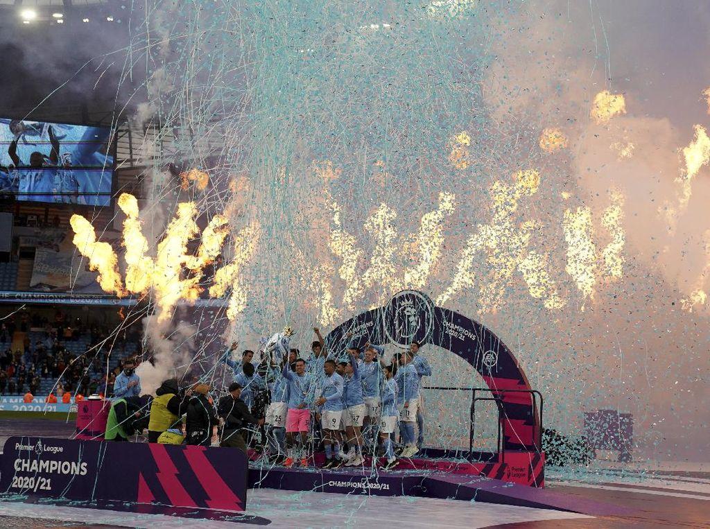 Manchester City Juara Liga Inggris, Ini Video Pestanya di Lapangan