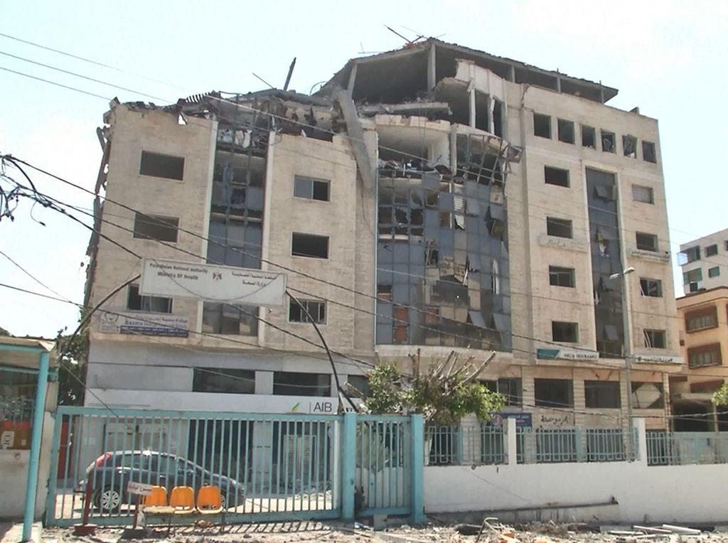 Penampakan Satu-satunya Pusat Tes Corona di Gaza Rusak Digempur Israel