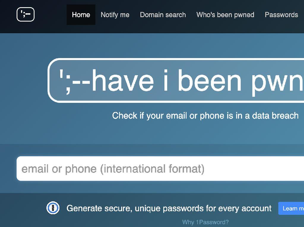 Cara Cek Kebocoran Data Pribadi di Internet