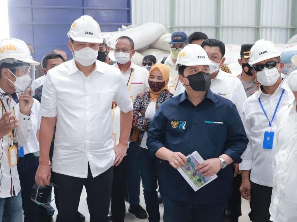 3 Menteri Cek Kesiapan Sentra Pengolahan Beras Terpadu di Kebumen