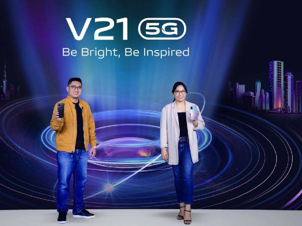 Vivo V21 5G Resmi Meluncur, Bawa Dual OIS Night Camera