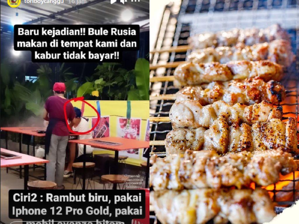 Kejadian Lagi! Bule Rusia Kabur Tak Bayar saat Makan di Restoran Bali