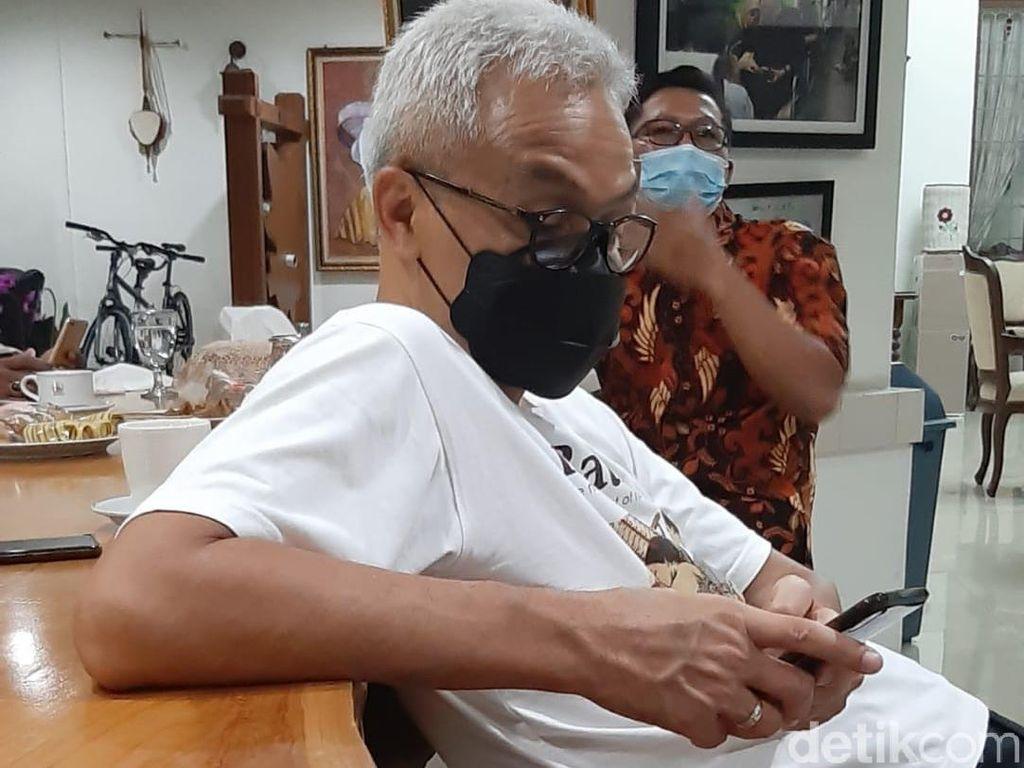 Respons Ganjar soal Namanya Kembali Teratas di Elektabilitas Capres