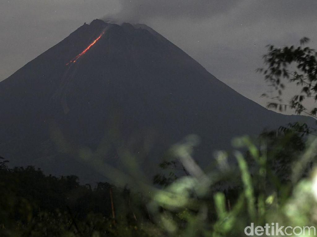 Gunung Merapi Erupsi 2 Kali Malam Ini, Muntahkan Awan Panas 2 Km