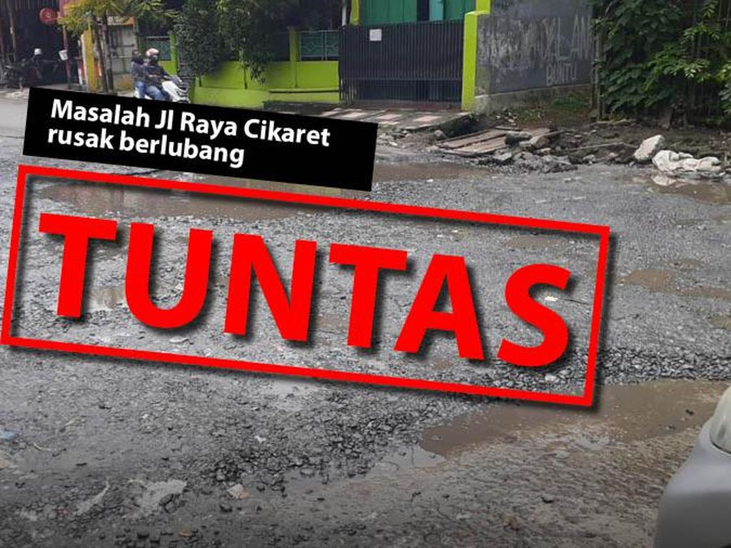 Before-after Perbaikan Jl Cikaret Kabupaten Bogor yang Dulu Ambyar