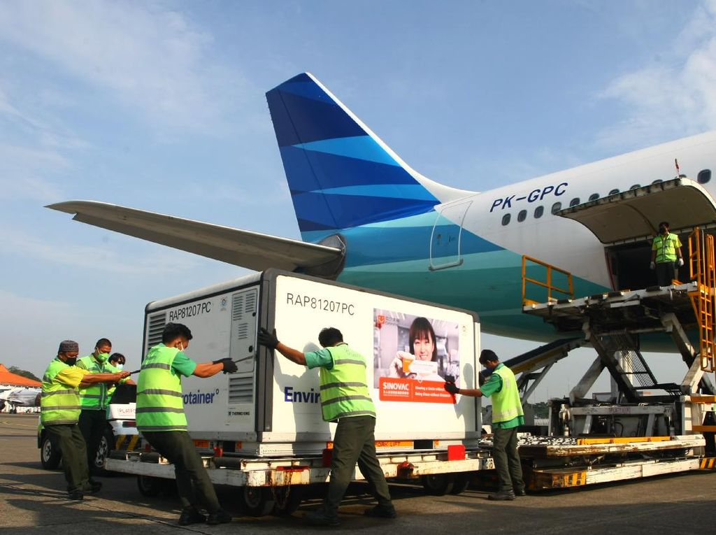 Indonesia Kembali Terima 10 Juta Bulk Vaksin Sinovac